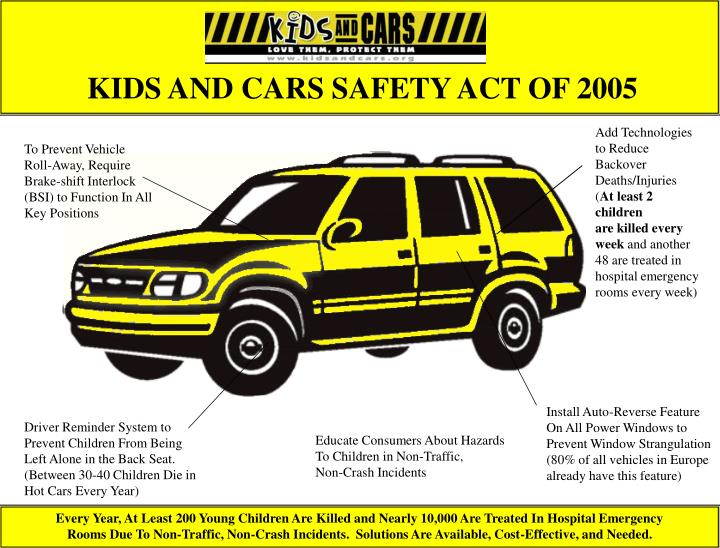 kids and cars safety act of 2005 n.