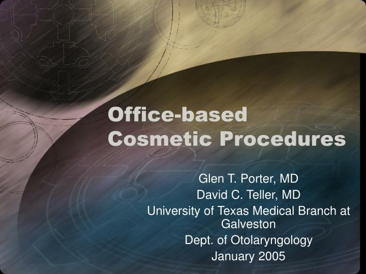 office based cosmetic procedures n.