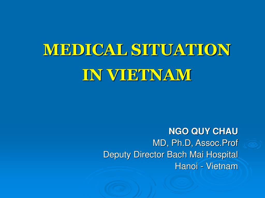 medical situation in vietnam l.