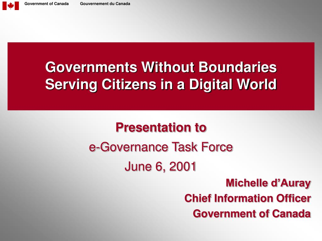governments without boundaries serving citizens in a digital world l.