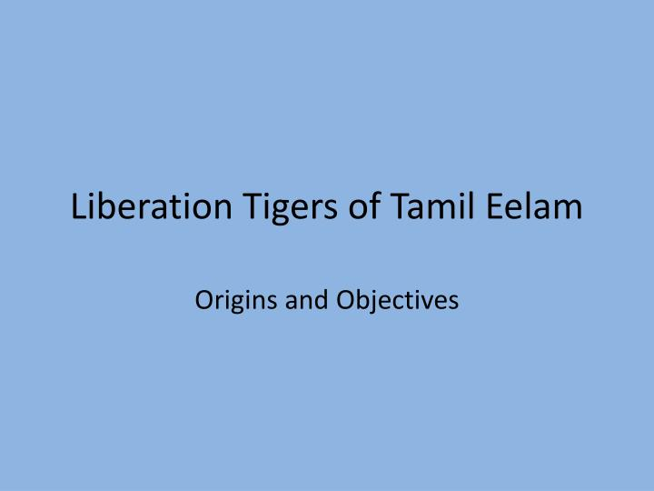 liberation tigers of tamil eelam n.