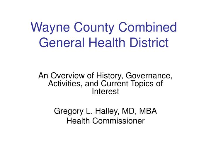 wayne county combined general health district n.
