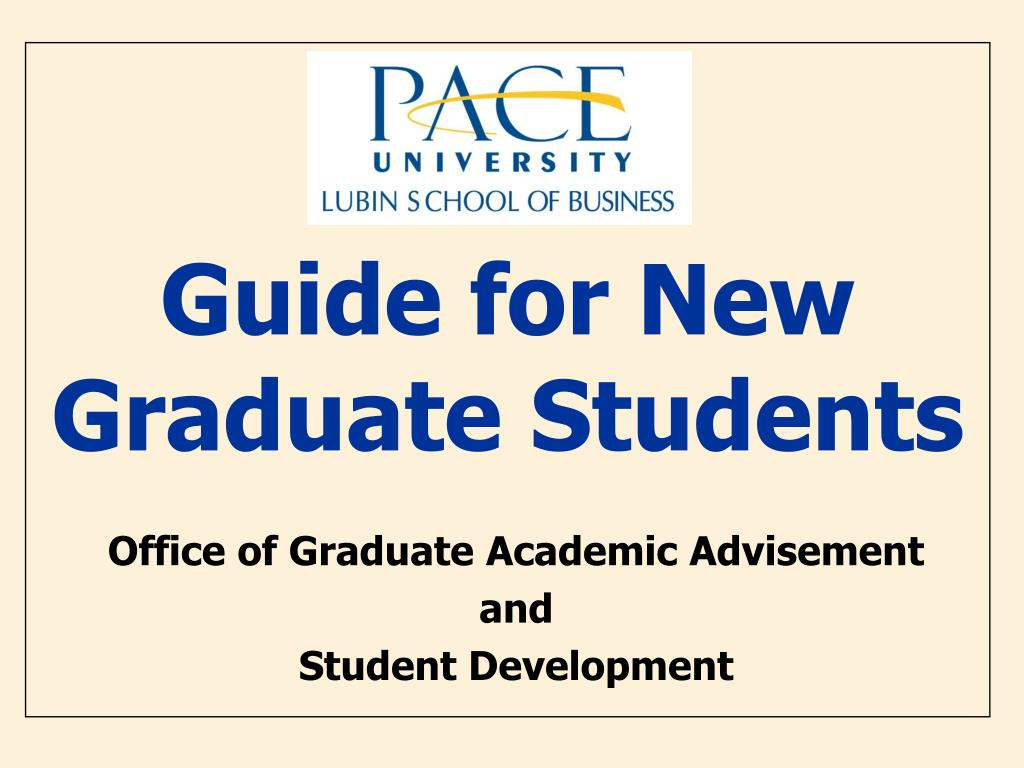 guide for new graduate students l.