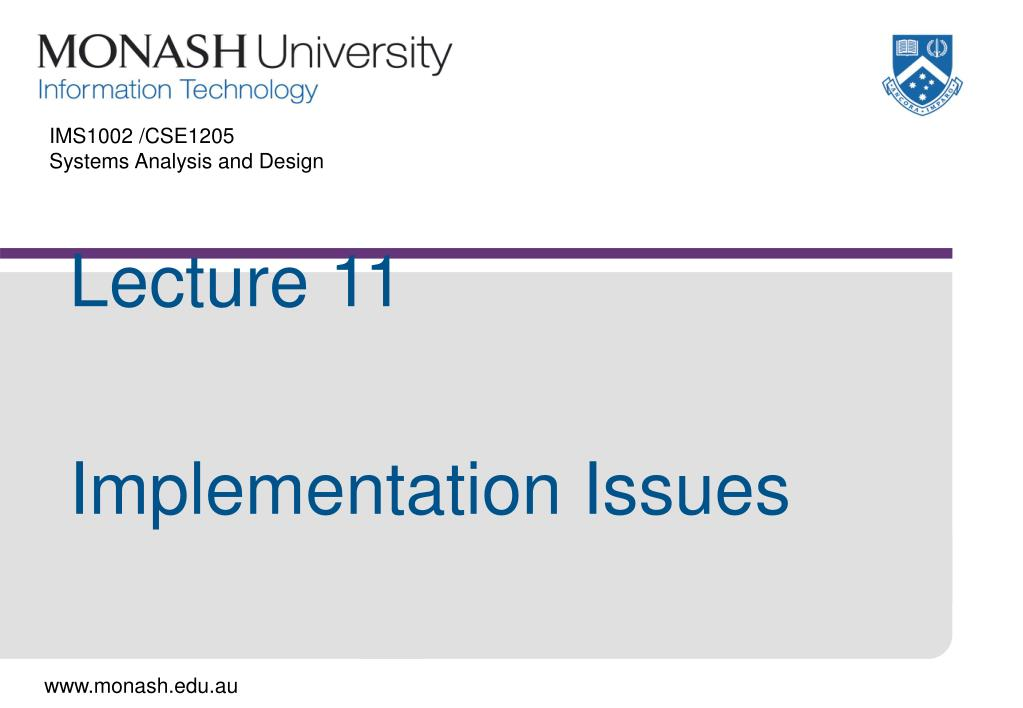 ims1002 cse1205 systems analysis and design l.