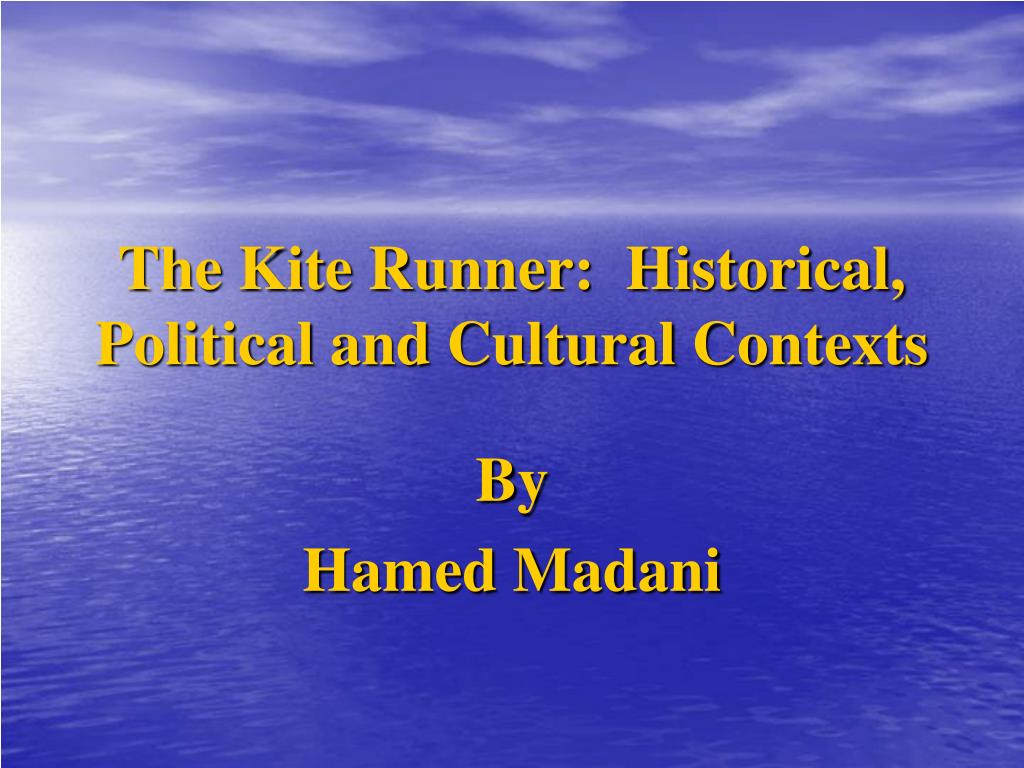 the kite runner historical political and cultural contexts l.