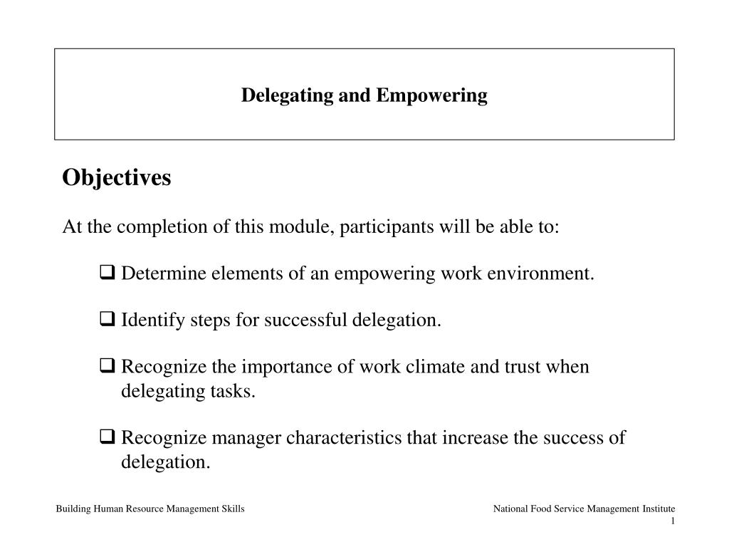delegating and empowering l.