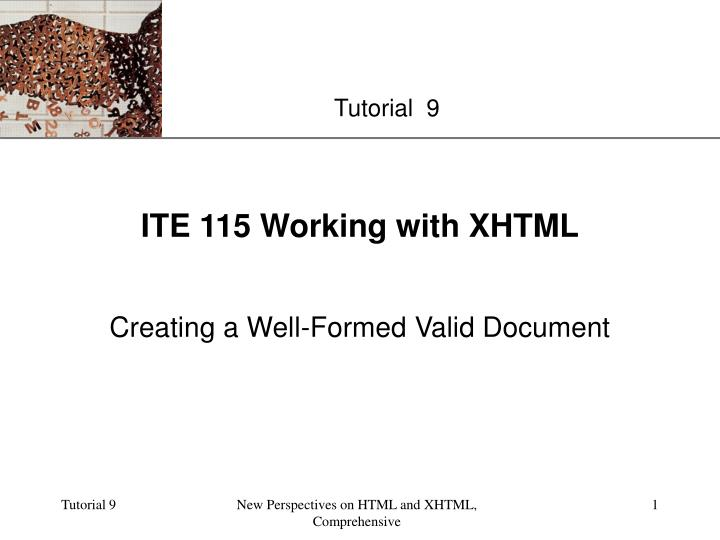 ite 115 working with xhtml n.