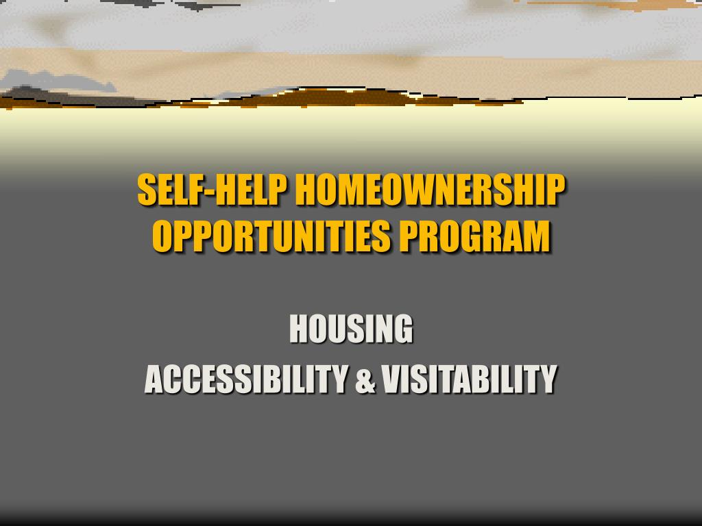 self help homeownership opportunities program l.