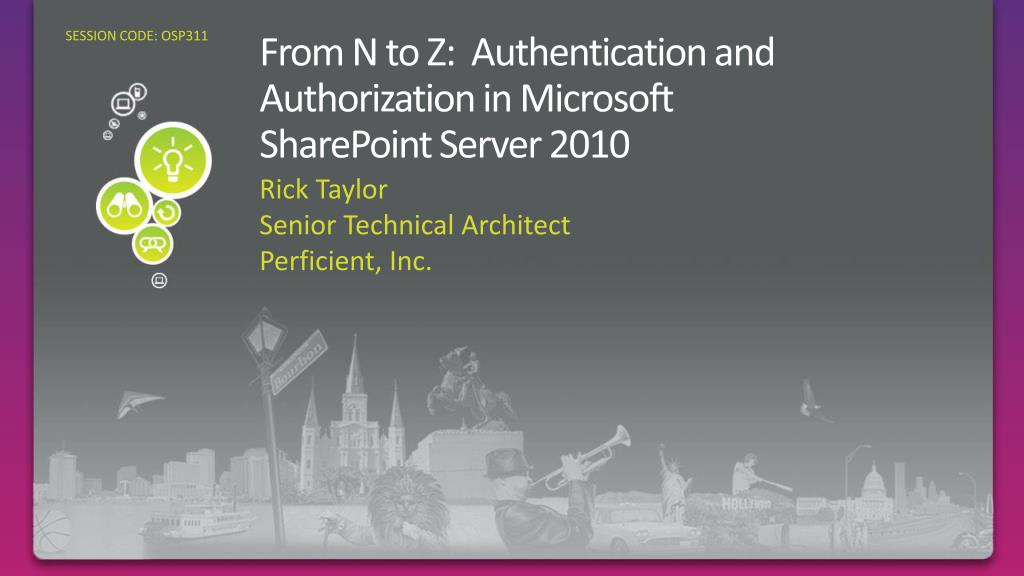 from n to z authentication and authorization in microsoft sharepoint server 2010 l.