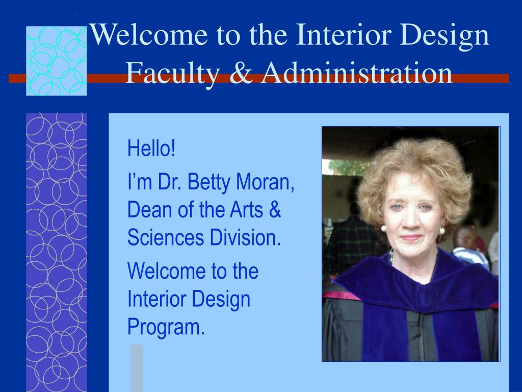 welcome to the interior design faculty administration l.