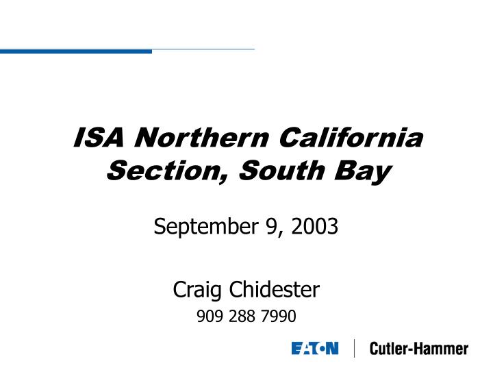 isa northern california section south bay n.