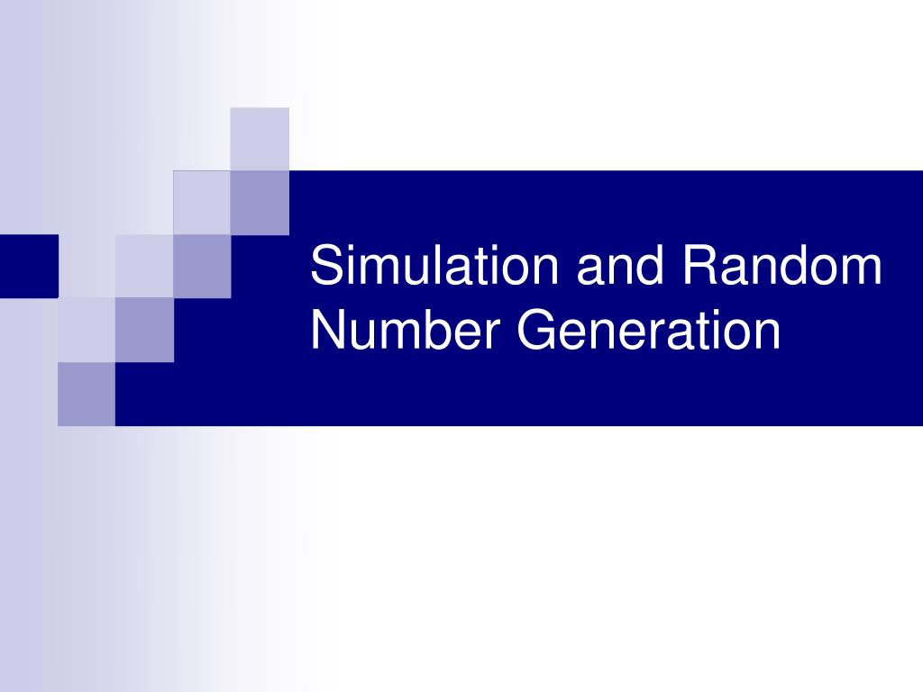 simulation and random number generation l.