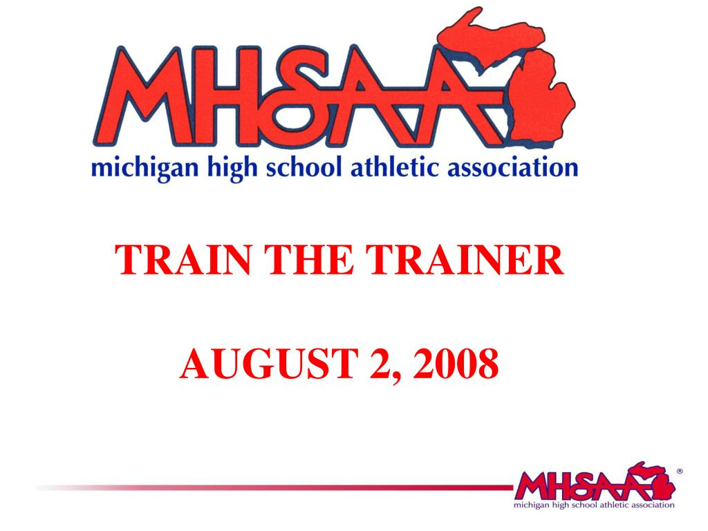 train the trainer august 2 2008 l.