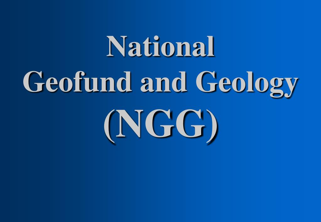 national geofund and geology ngg l.