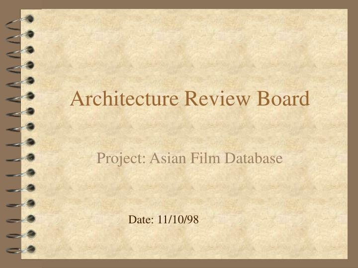 architecture review board n.