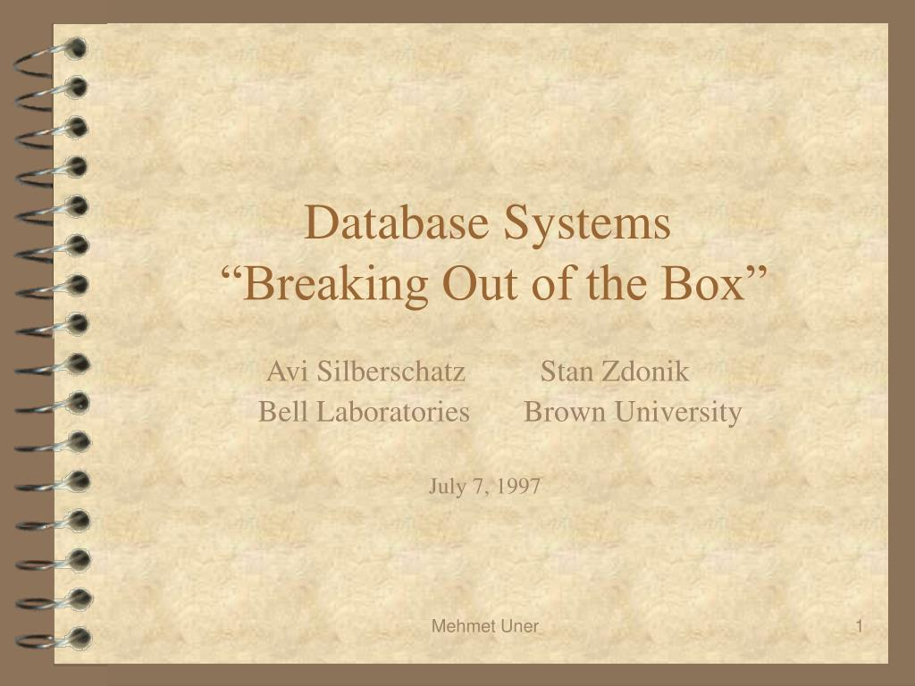 database systems breaking out of the box l.