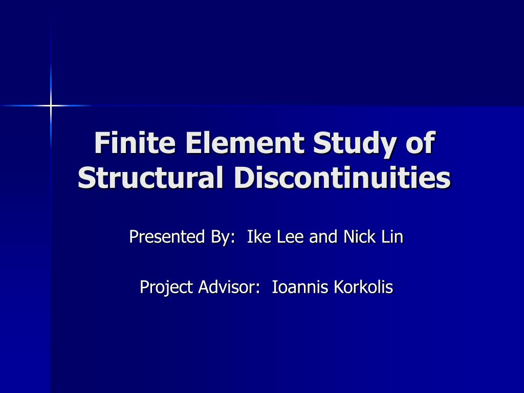 finite element study of structural discontinuities l.