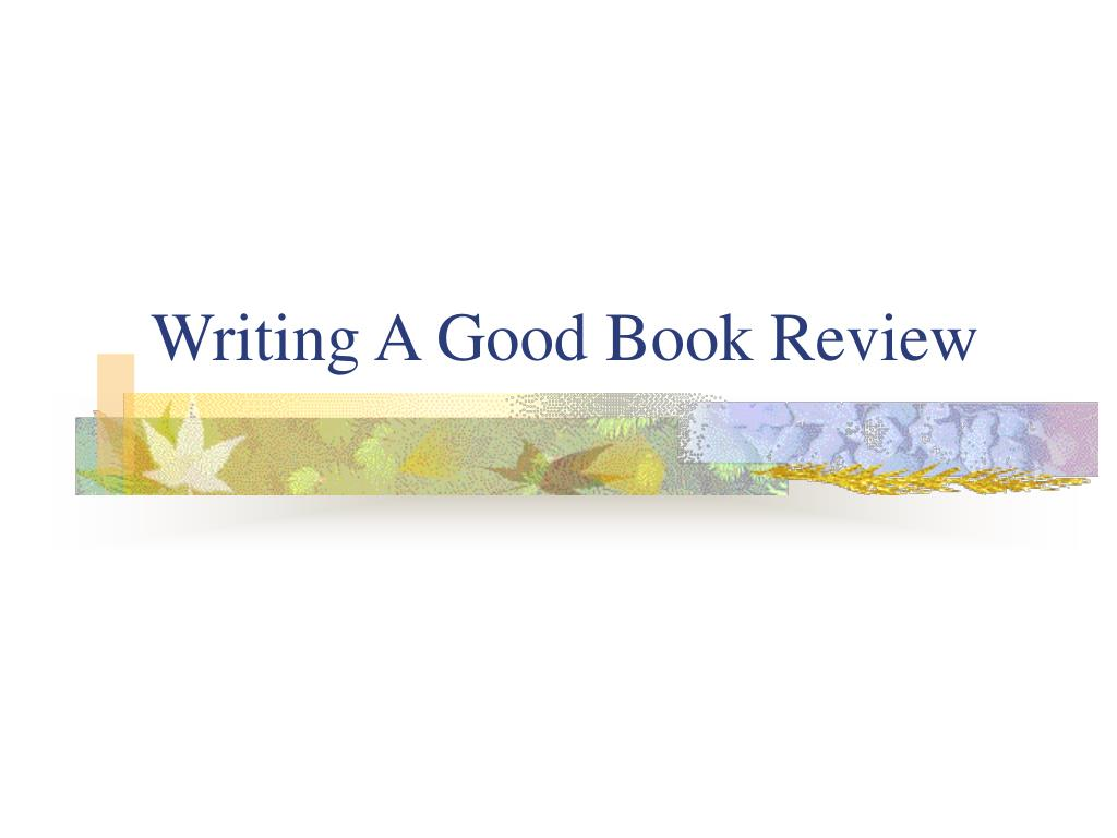 writing a good book review l.