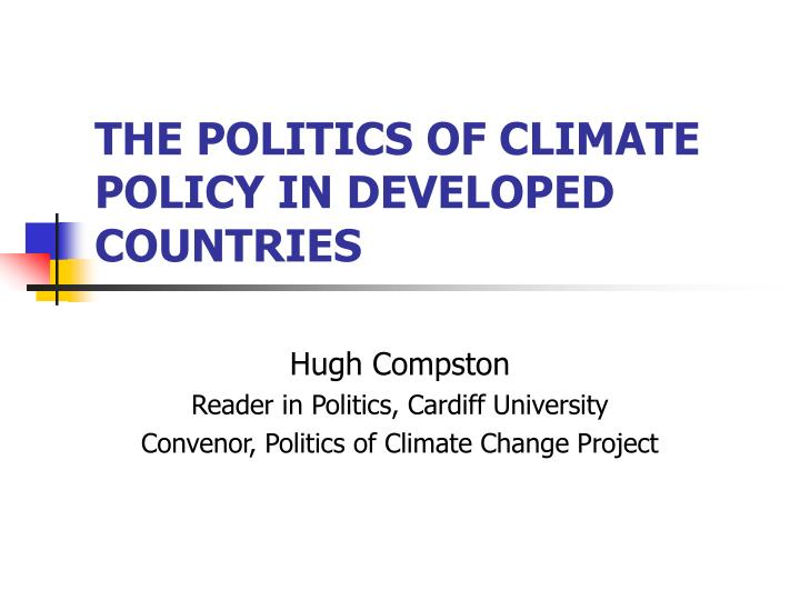 the politics of climate policy in developed countries n.