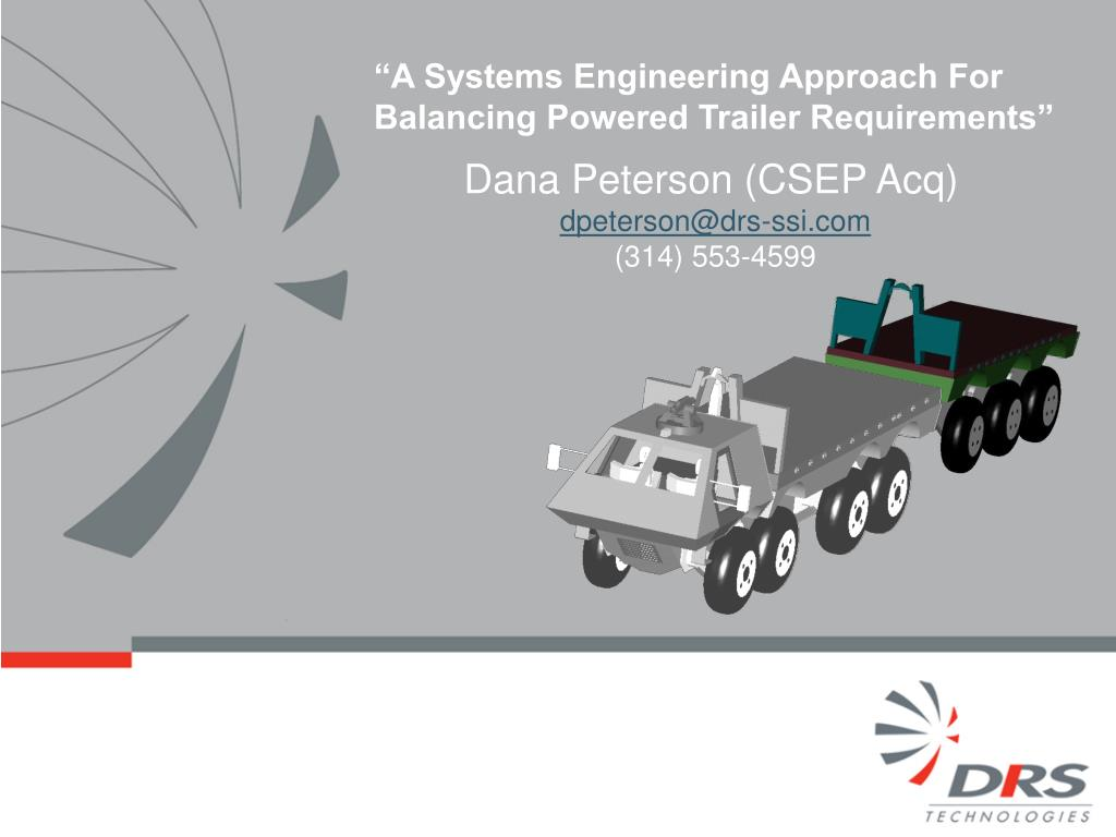 a systems engineering approach for balancing powered trailer requirements l.