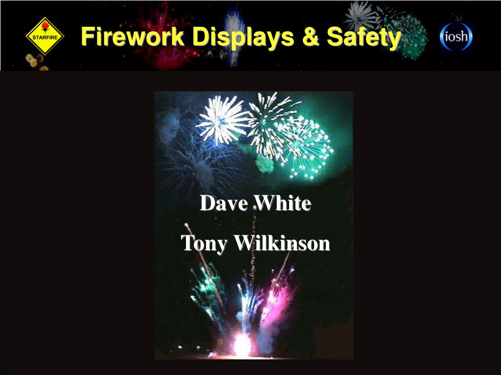 firework displays safety l.