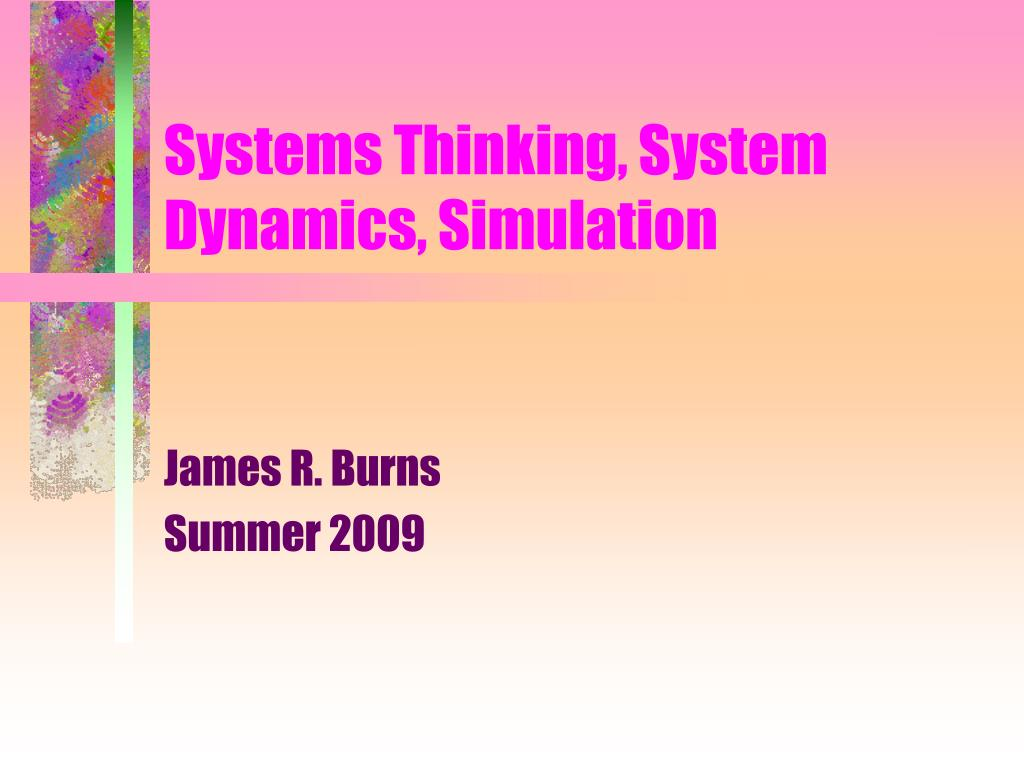 systems thinking system dynamics simulation l.