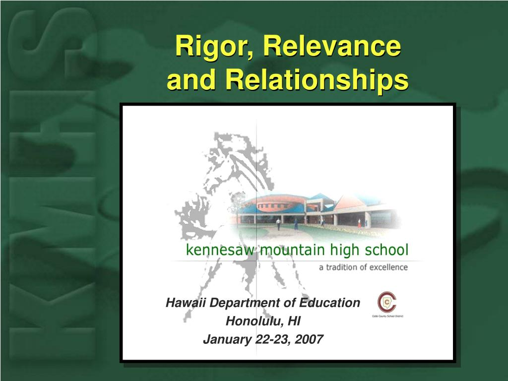 rigor relevance and relationships l.