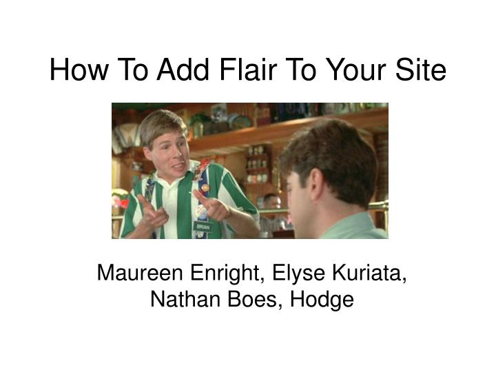 how to add flair to your site n.
