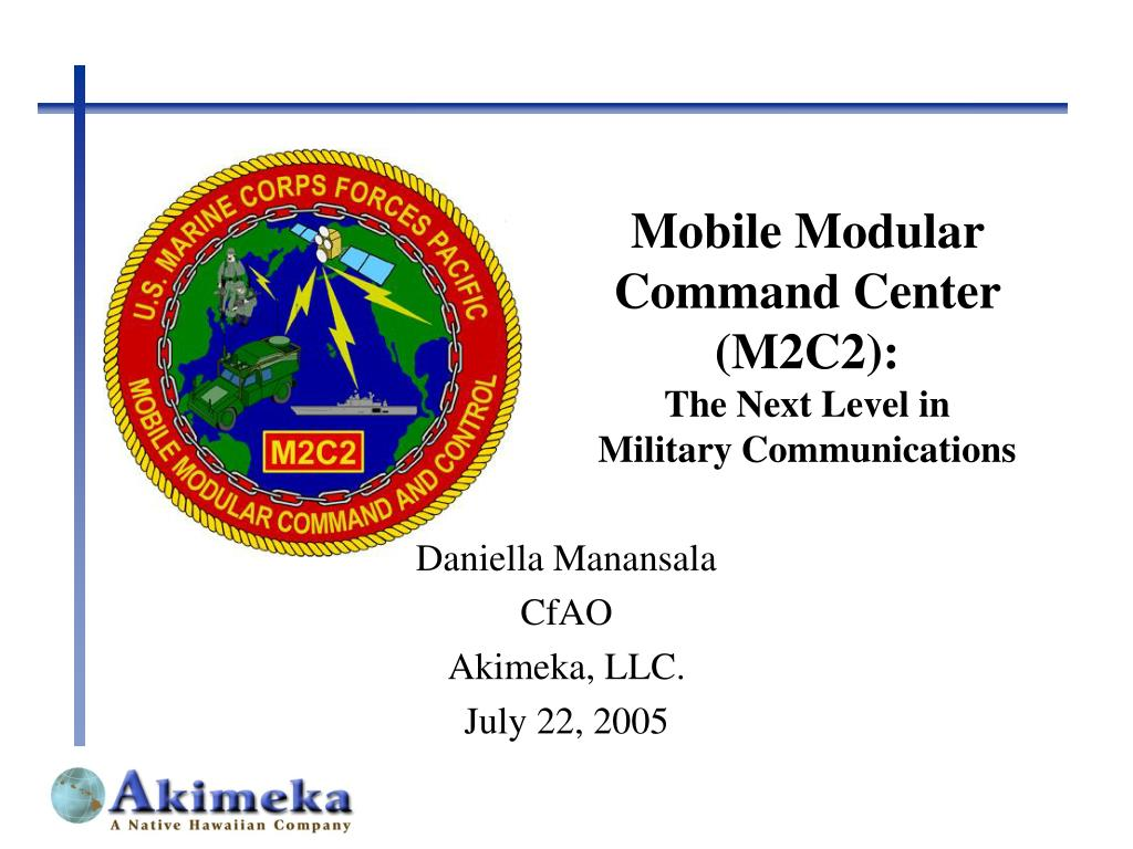 mobile modular command center m2c2 the next level in military communications l.