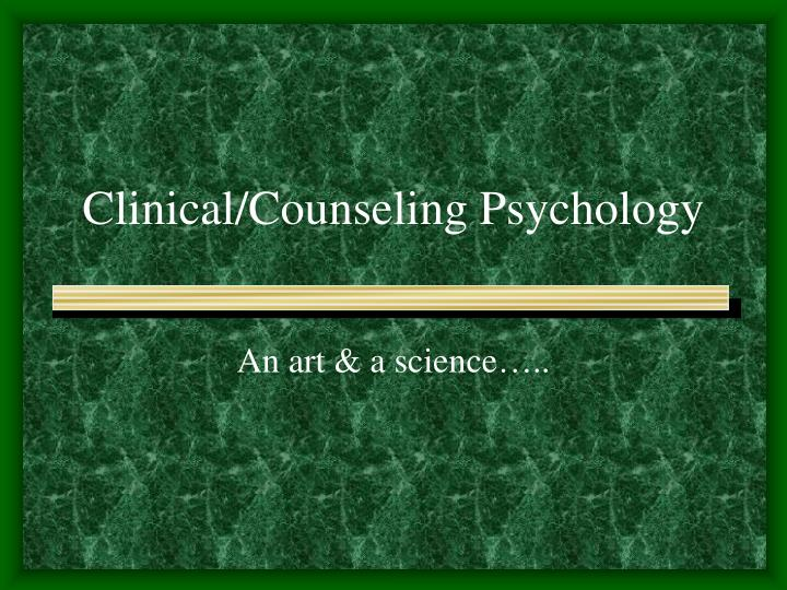 clinical counseling psychology n.