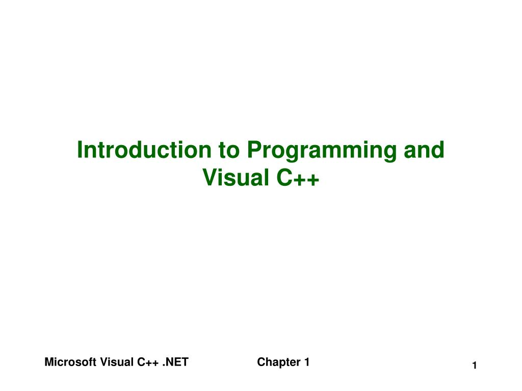 introduction to programming and visual c l.