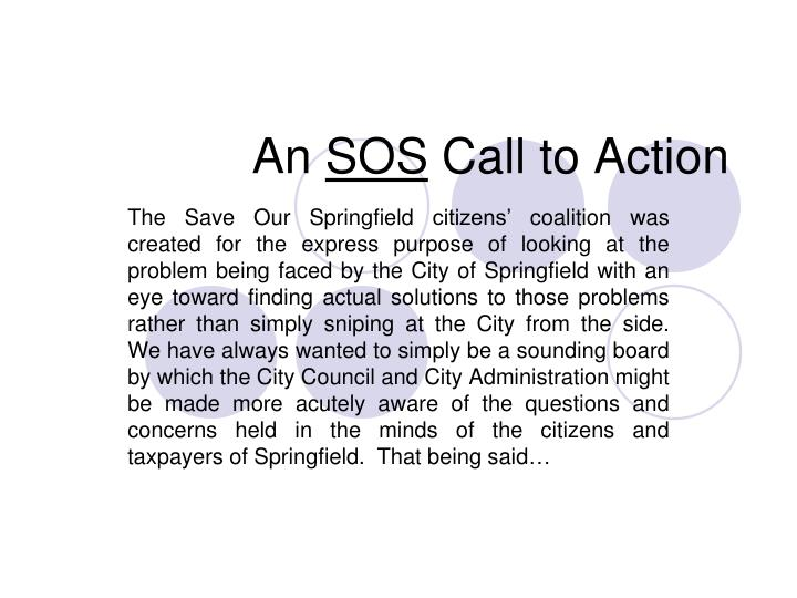 an sos call to action n.