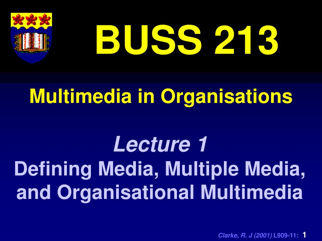 multimedia in organisations l.