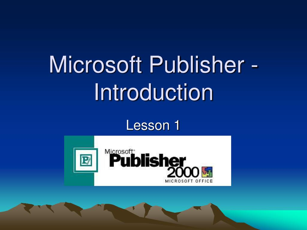 microsoft publisher introduction l.