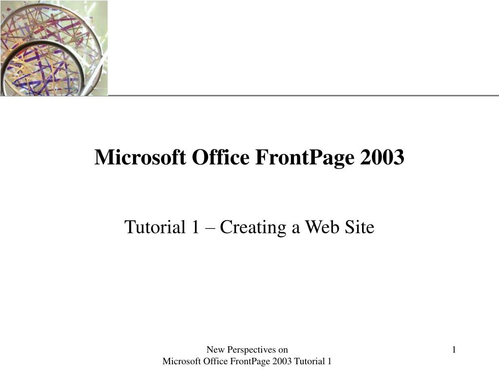 microsoft office frontpage 2003 l.