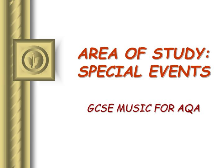 area of study special events n.