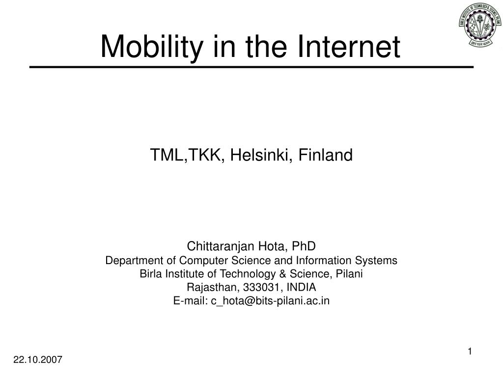 mobility in the internet l.