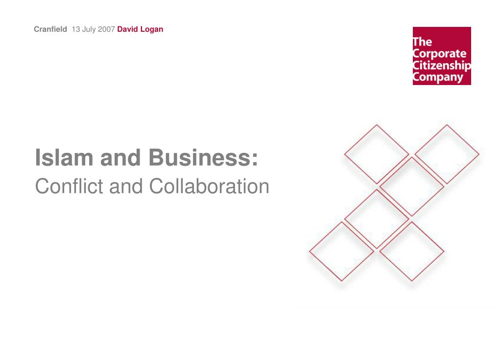 islam and business conflict and collaboration l.