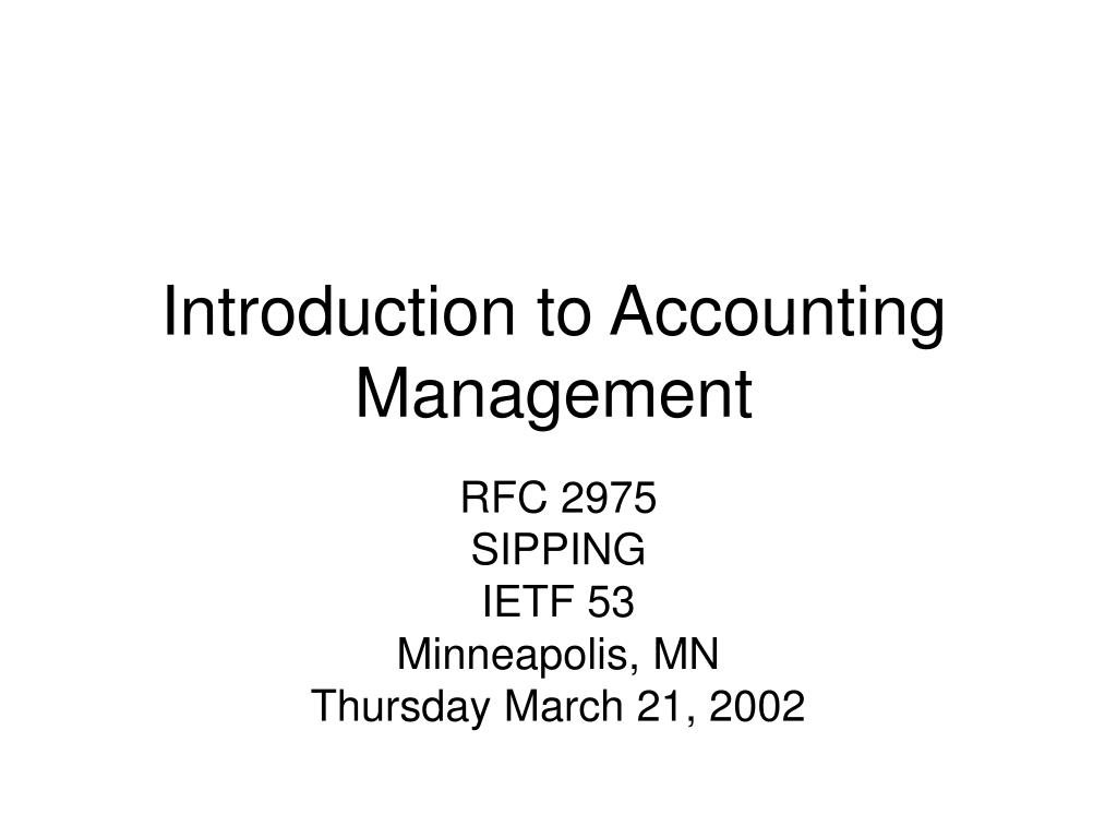 introduction to accounting management l.