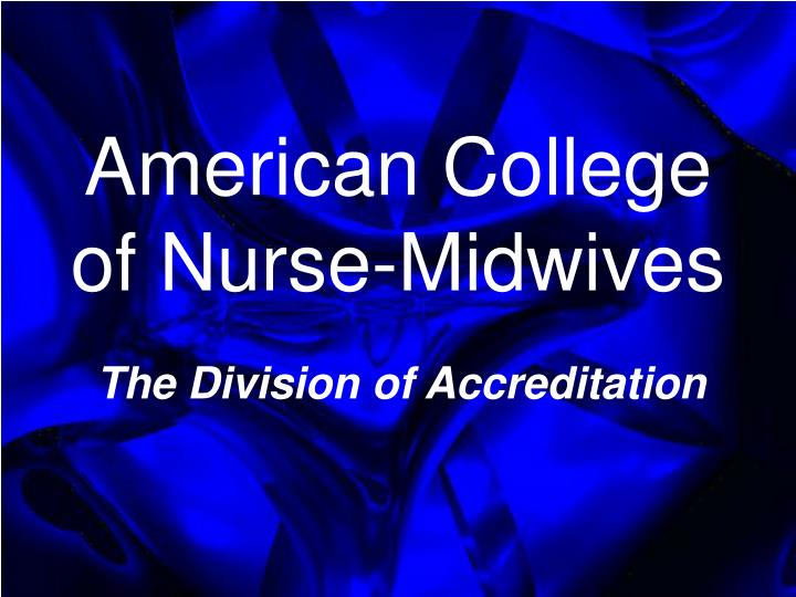 american college of nurse midwives n.