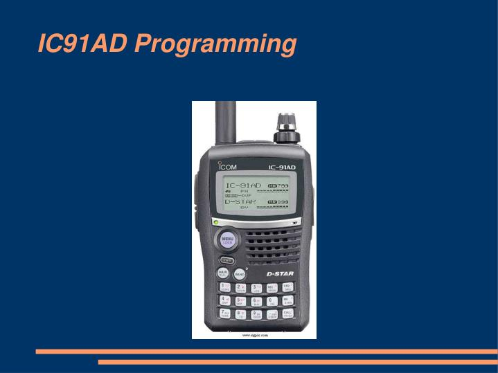 ic91ad programming n.