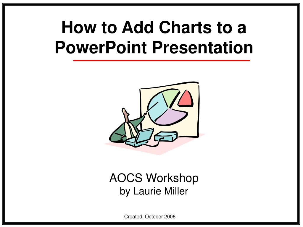 how to add charts to a powerpoint presentation l.