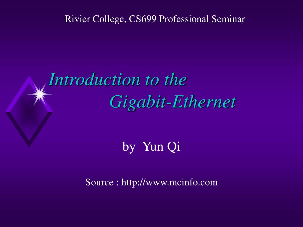 introduction to the gigabit ethernet l.