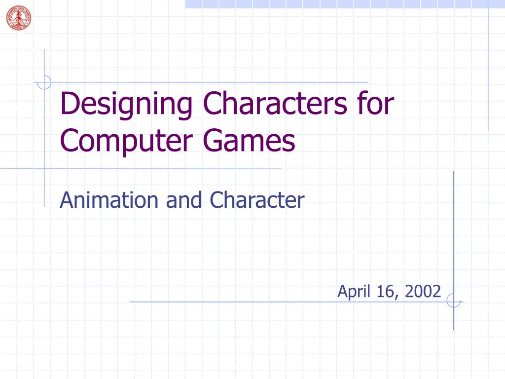 designing characters for computer games l.