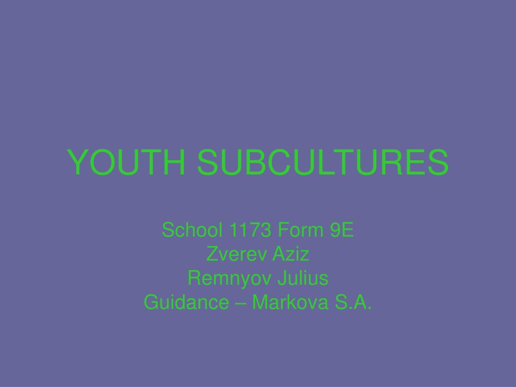 youth subcultures l.