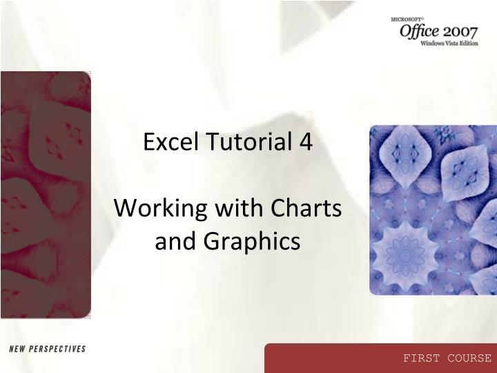 excel tutorial 4 working with charts and graphics n.