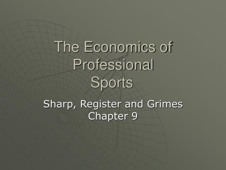 the economics of professional sports n.