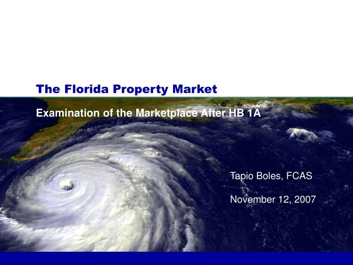 the florida property market n.