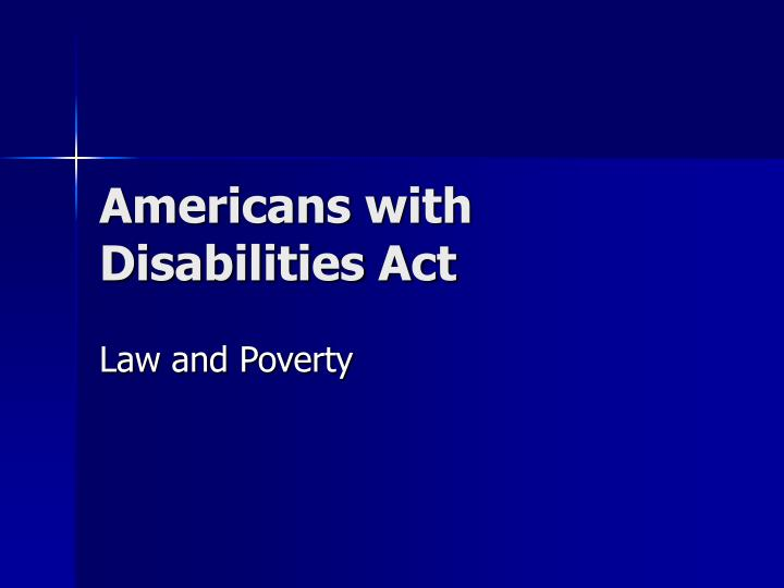 americans with disabilities act n.