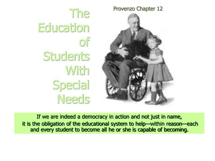 the education of students with special needs n.